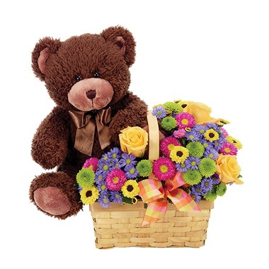 """Beary Happy Birthday"" flowers (BF159-11KM)"